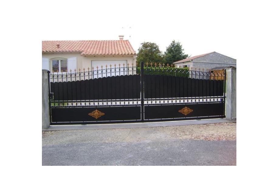 portails coulissants apc16 cognac. Black Bedroom Furniture Sets. Home Design Ideas